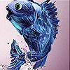 Puzzle - Modrá rybka